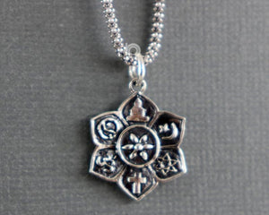 Sterling Silver Artisan Buddha Charm -- SS/CH2/CR100 - Beadspoint