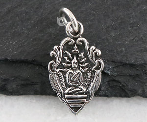 Sterling Silver Artisan Buddha Charm -- SS/CH2/CR145 - Beadspoint