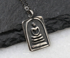 Sterling Silver Artisan Buddha Charm -- SS/CH2/CR141 - Beadspoint