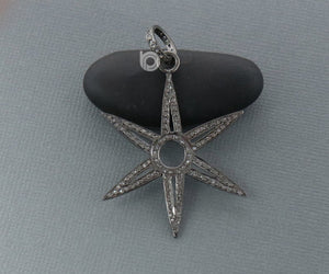 Pave Diamond Star Pendant 3 Finishes-- DPL-2286 - Beadspoint