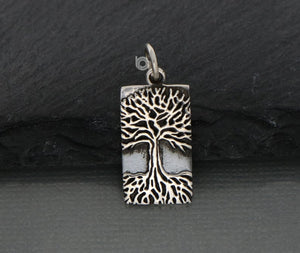 Sterling Silver Artisan Tree of Life Charm -- SS/CH4/CR160 - Beadspoint