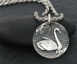 Sterling Silver Swan Charm -- SS/CH6/CR80 - Beadspoint