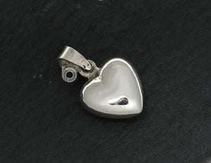 Sterling Silver Heart Charm   -- SS/CH8/CR44 - Beadspoint