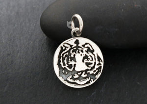 Sterling Silver Handmade Motif Coin Charm -- SS/CH4/CR151 - Beadspoint