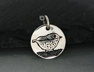 Sterling Silver Bird Charm -- SS/CH6/CR56 - Beadspoint