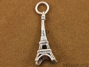 Sterling Silver Eiffel Tower Charm -- SS/CH10/CR8 - Beadspoint