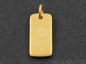 24K Gold Vermeil Over Sterling Silver Dog Charm  -- VM/CH11/CR4 - Beadspoint