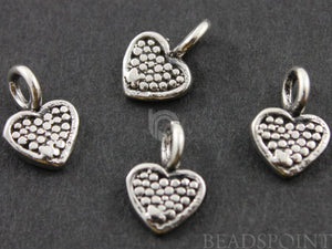 Sterling Silver Tiny Heart Charm -- SS/CH8/CR22 - Beadspoint