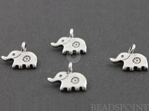 Sterling Silver Small Elephant Charm -- SS/CH7/CR22 - Beadspoint