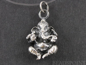 Sterling Silver Ganesha Charm --SS/CH2/CR29 - Beadspoint