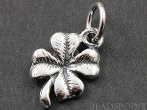 Sterling Silver Clover Leaf Charm -- SS/CH4/CR46 - Beadspoint
