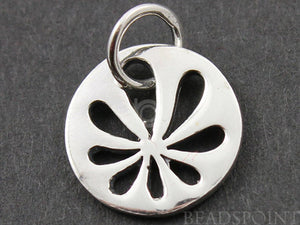 Sterling Silver Cut Out Flower Charm -- SS/CH4/CR41