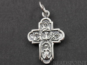 Sterling Silver Detailed Cross Charm  -- SS/CH20/CR10
