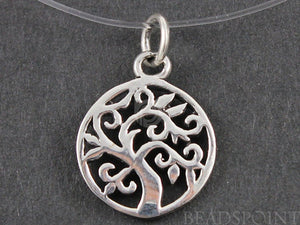 Sterling Silver Cut Out Tree of Life Charm -- SS/CH4/CR53 - Beadspoint