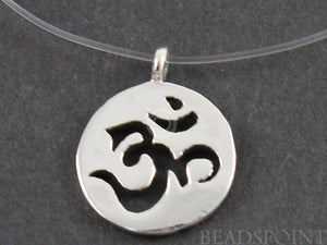 Sterling Silver Artisan OHM Charm -- SS/CH2/CR39 - Beadspoint