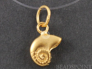 24K Gold Vermeil Over Sterling Silver Sea Shell Charm  -- VM/CH7/CR25