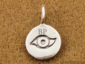 Sterling Silver Evil Eye Charm -- SS/CH2/CR1 - Beadspoint