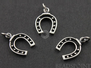 Sterling Silver Horse Shoe Charm -- SS/CH5/CR19 - Beadspoint