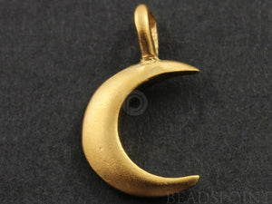 24K Gold Vermeil over Sterling Silver Moon Charm -- VM/CH5/CR21