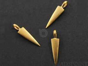 24K Gold Vermeil over Sterling Silver Spike Charm  -- VM/CH7/CR38 - Beadspoint