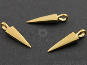 24K Gold Vermeil over Sterling Silver Spike Charm  -- VM/CH7/CR38