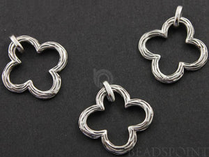 Sterling Silver Clover Charm -- SS/CH4/CR61