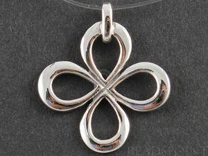 Sterling Silver Clover Charm -- SS/CH4/CR62 - Beadspoint