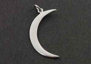 Sterling Silver Crescent Large Moon Charm -- SS/CH5/CR25