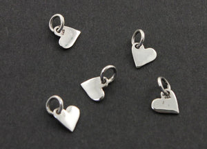 Sterling Silver Tiny Heart Charm -- SS/CH8/CR26 - Beadspoint