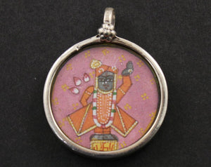 Sterling Silver Hand Painted Indian God Charm -- TCH-05