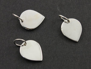 Sterling Silver Leaf  Charm -- SS/CH11/CR11 - Beadspoint
