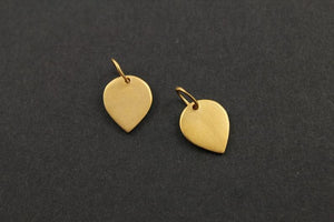 24K Gold Vermeil Over Sterling Silver Leaf Charm -- VM/CH11/CR11 - Beadspoint