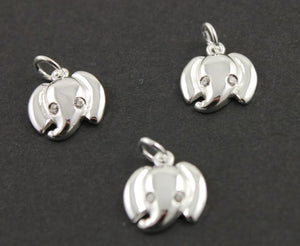 Sterling Silver Elephant Charm  -- SS/CH7/CR53 - Beadspoint