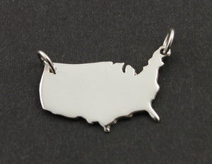 Sterling Silver United States of America Charm -- SS/CH10/CR54 - Beadspoint