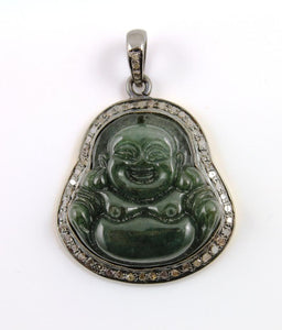 Pave Diamond Laughing Buddha Pendant --DP-0668 - Beadspoint