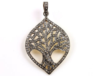 Pave Diamond Tree of Life Pendant --DP-1166 - Beadspoint