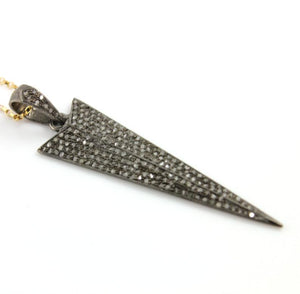 Pave Diamond Triangle Arrowhead Pendant -- DP-0862 - Beadspoint