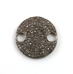 Pave Diamond Covered Round Disc Connector - DC-0101 - Beadspoint