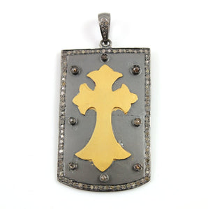 Pave Diamond Cross Pendant --DP-0835 - Beadspoint