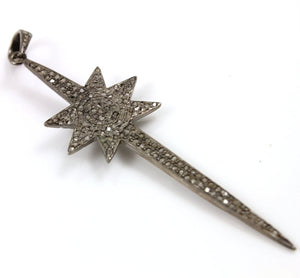 Pave Diamond Star Spoke Pendant --DP-1252 - Beadspoint