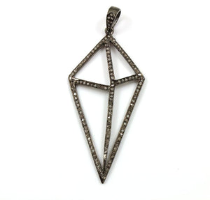 Pave Diamond Abstract Pendant --DP-0811 - Beadspoint