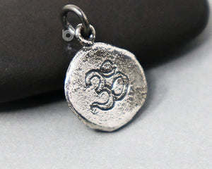 Sterling Silver Artisan OHM Charm -- SS/CH2/CR113
