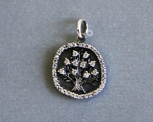 Sterling Silver Artisan Tree of Life Charm -- SS/CH4/CR146 - Beadspoint