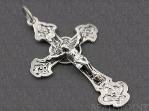 Sterling Silver Large Crucifix Cross Charm  -- SS/CH20/CR7 - Beadspoint