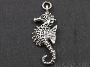 Sterling Silver Large Seahorse Charm -- SS/CH7/CR21 - Beadspoint