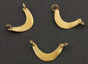 24K Gold Vermeil Over Sterling Silver Crescent Large Moon Charm -- VM/CH5/CR26