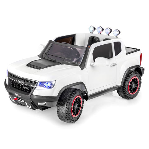 SPORTrax Offroad Kid's Ride On 4WD Truck - White - Royalty Wheels