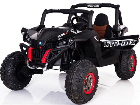 Mini Motos 12v 4WD UTV 2 Seater Kid's Ride On Car - Black - Royalty Wheels
