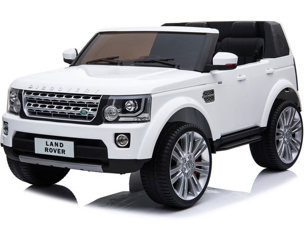 Mini Moto 12v Land Rover Discovery Ride On Car - White - Royalty Wheels