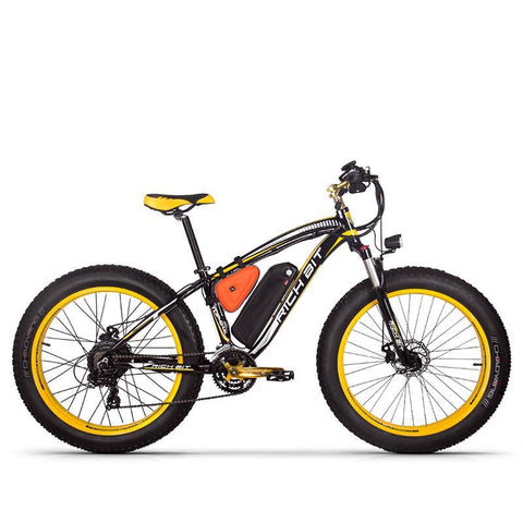 Rich Bit RT-012 Plus 1000w Electric Bike - Black/Yellow - Royalty Wheels